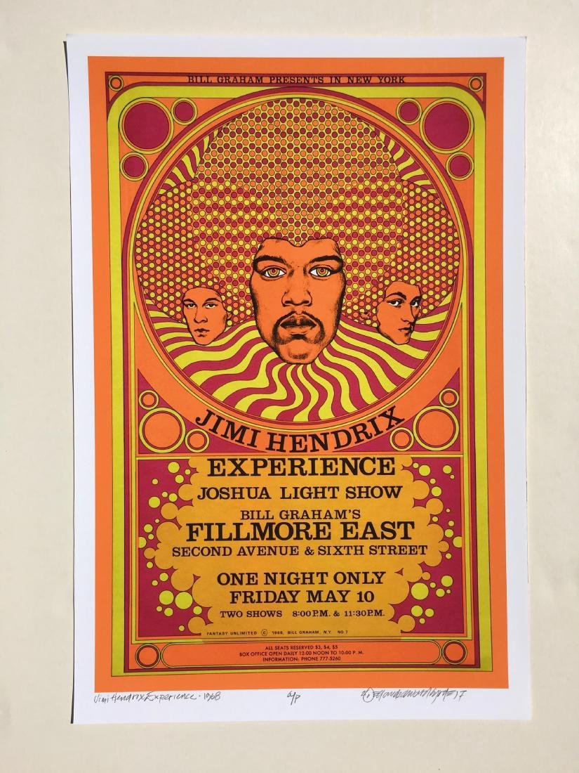 DAVID BYRD - Jimi Hendrix Poster - Signed Artists Proof
