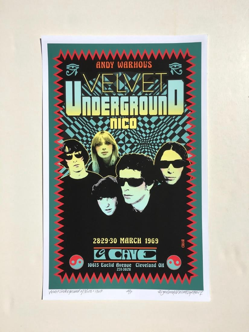 DAVID BYRD - Andy Warhol's Velvet Underground Poster