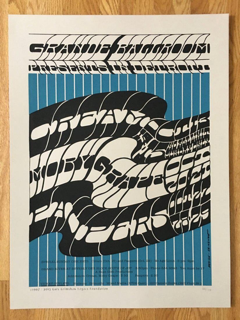 GARY GRIMSHAW - CREAM Poster - MOBY GRAPE