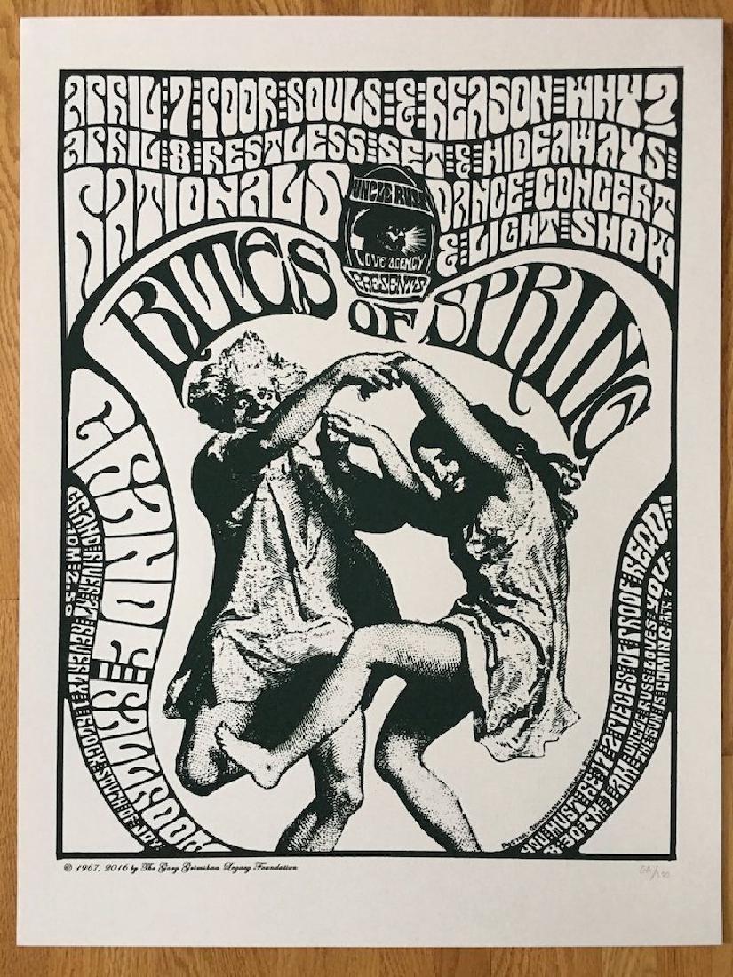GARY GRIMSHAW - RITES OF SPRING - Hideaways Poster
