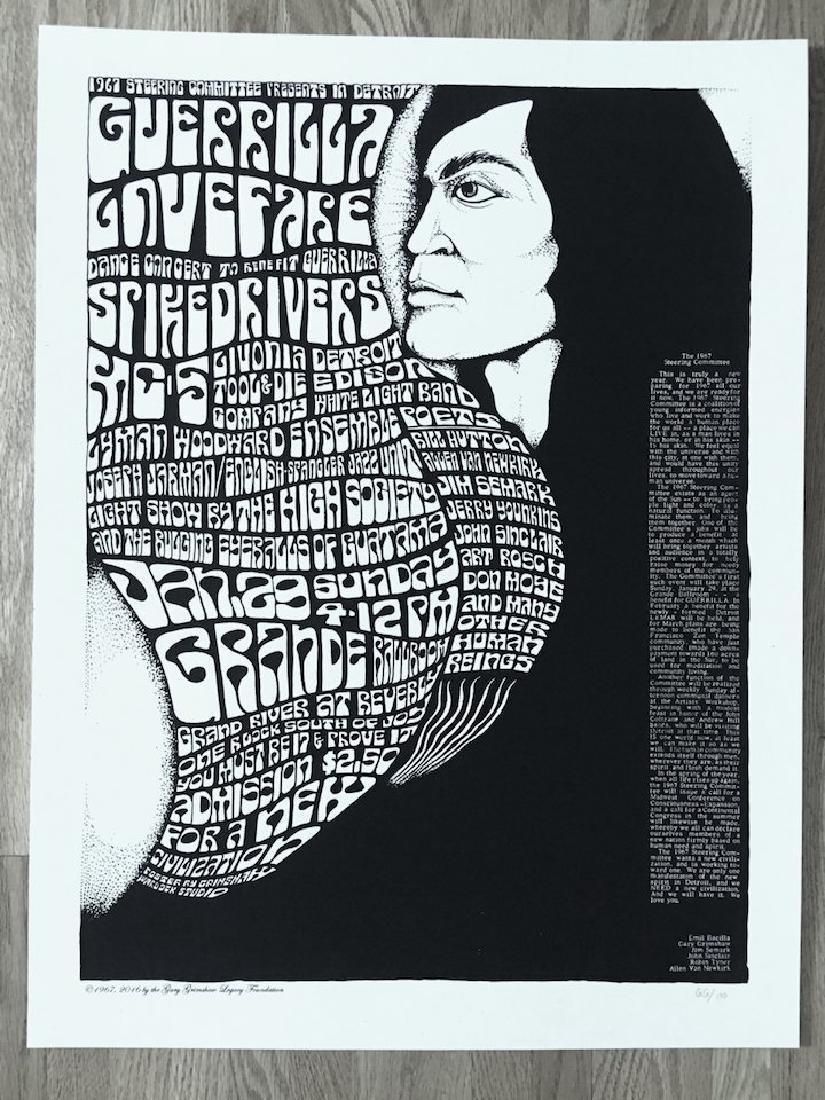 GARY GRIMSHAW - GUERRILLA LOVEFARE - MC5 Poster