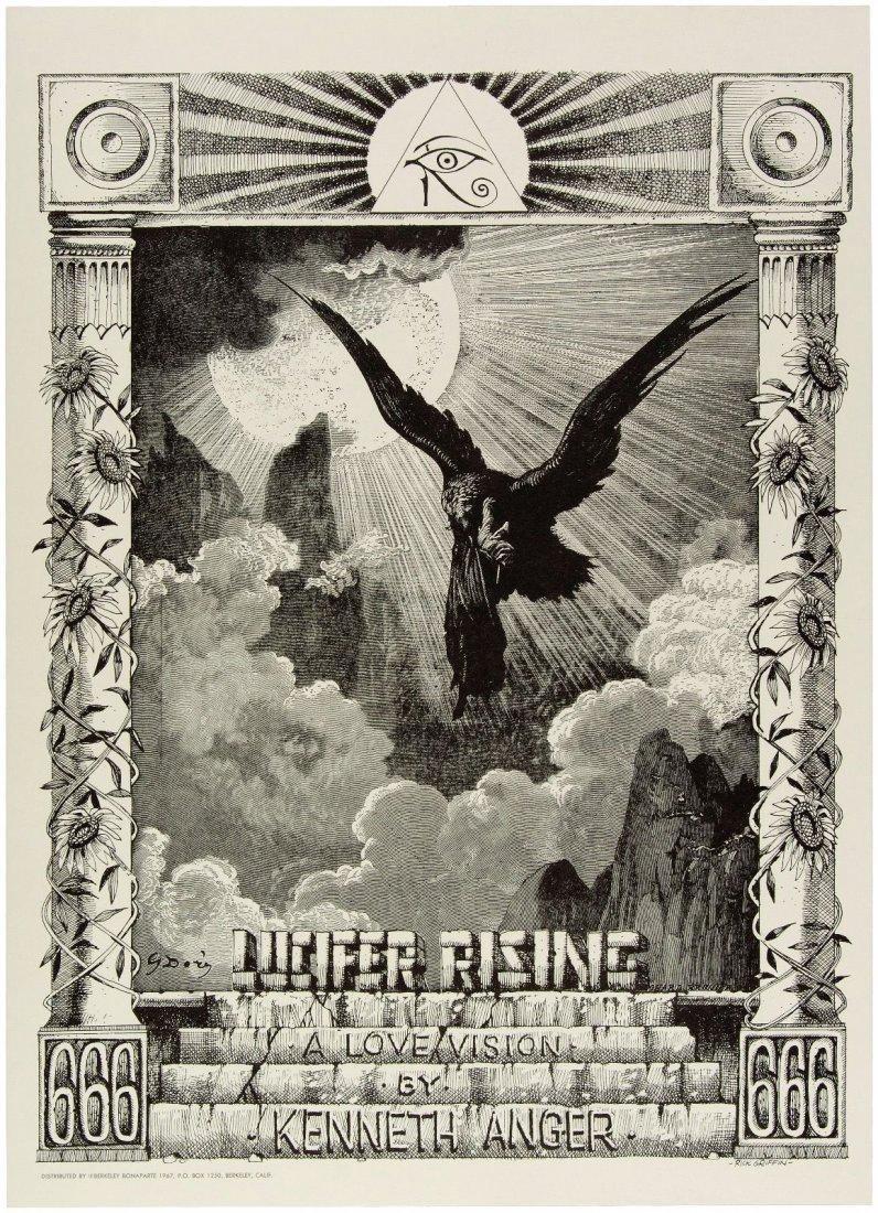 LUCIFER RISING Rick Griffin Original 60s Poster
