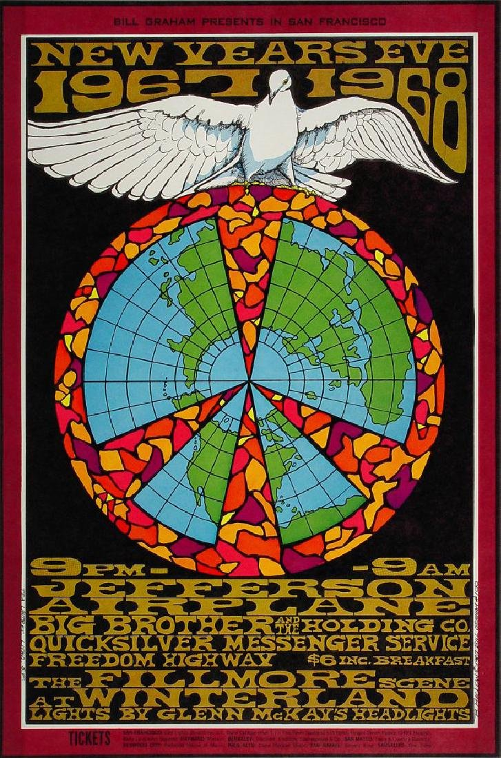 JEFFERSON AIRPLANE - BG100 - 3rd - Poster
