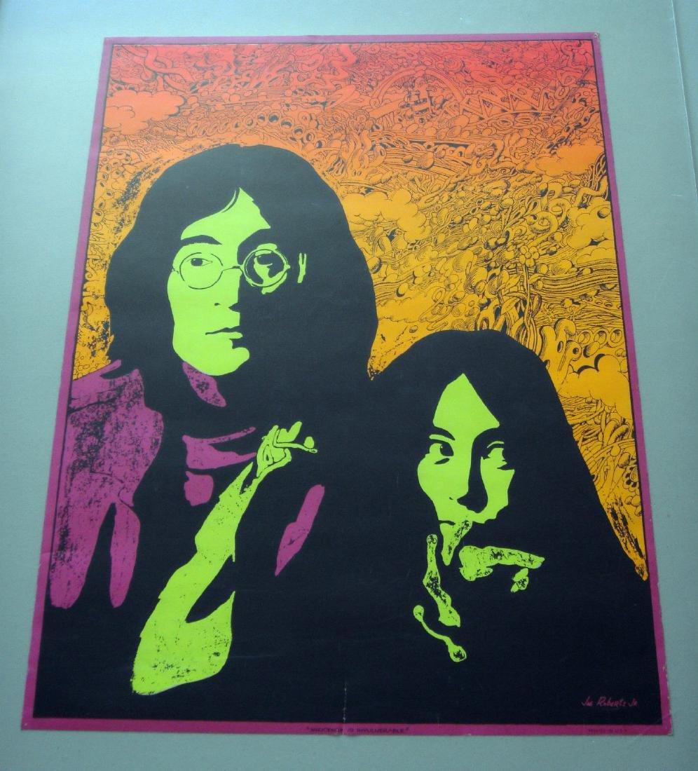 Black Light Poster John Lennon Yoko Ono