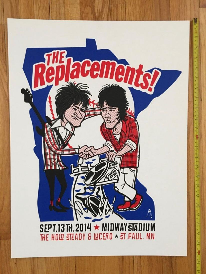 THE REPLACEMENTS Poster - MIDWAY STADIUM