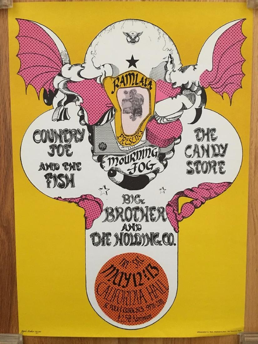 Ramlala Concert Poster - COUNTRY JOE AND THE FISH