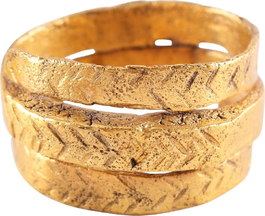 FINE VIKING COIL RING 10th-11th CENTURIES AD