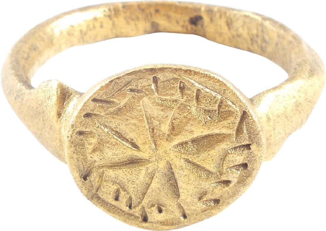 EUROPEAN CRUSADER'S RING, 12th-13th CENTURIES