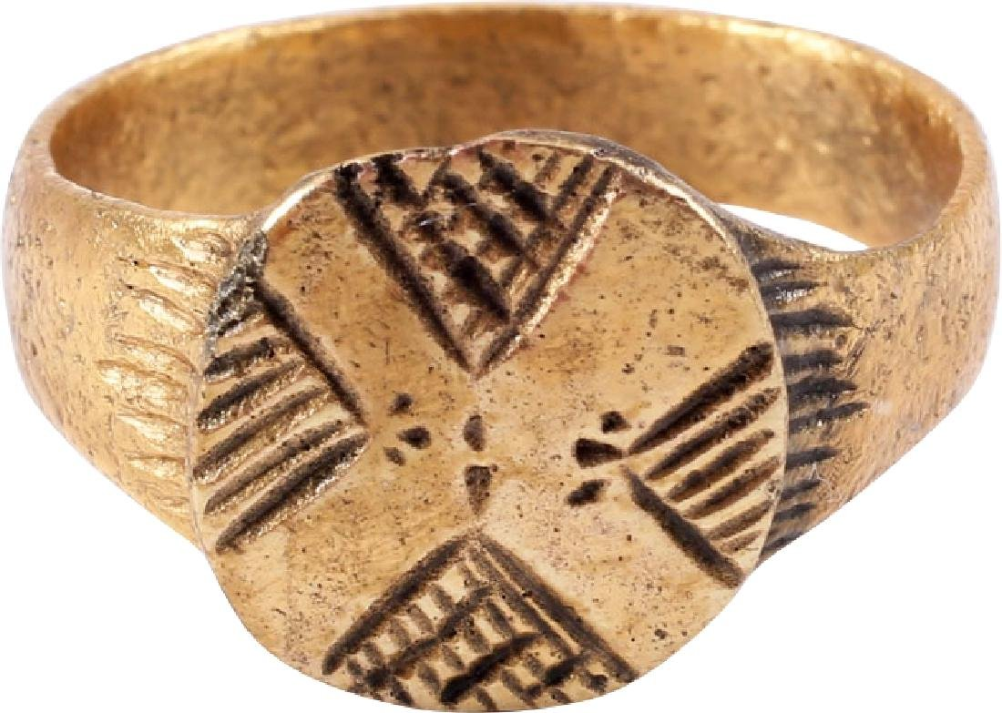 FINE EARLY CHRISTIAN MAN'S RING 4th-6th CENTURIES AD