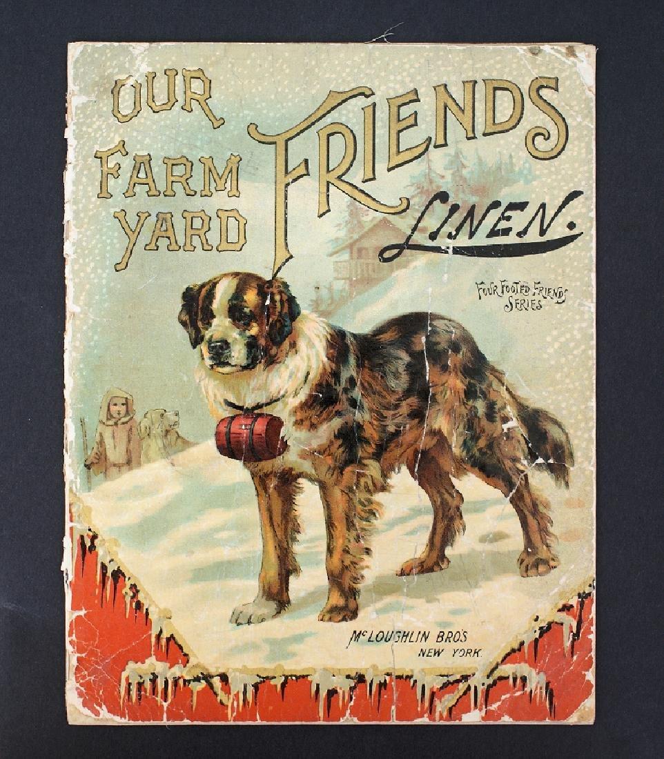 Antique Victorian MCLOUGHLIN 1895 FARM Linen Book