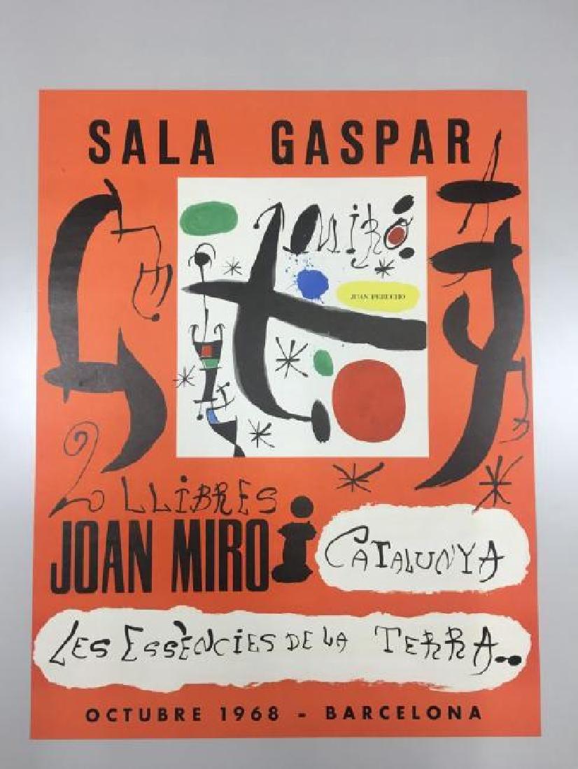 Joan Miro Exposition Poster Sala Gaspar Barcelona
