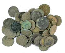 Lot of 50 Roman Coins for Cleaning.