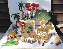Early 20th Century Folk Art Noah's Ark Animals & More