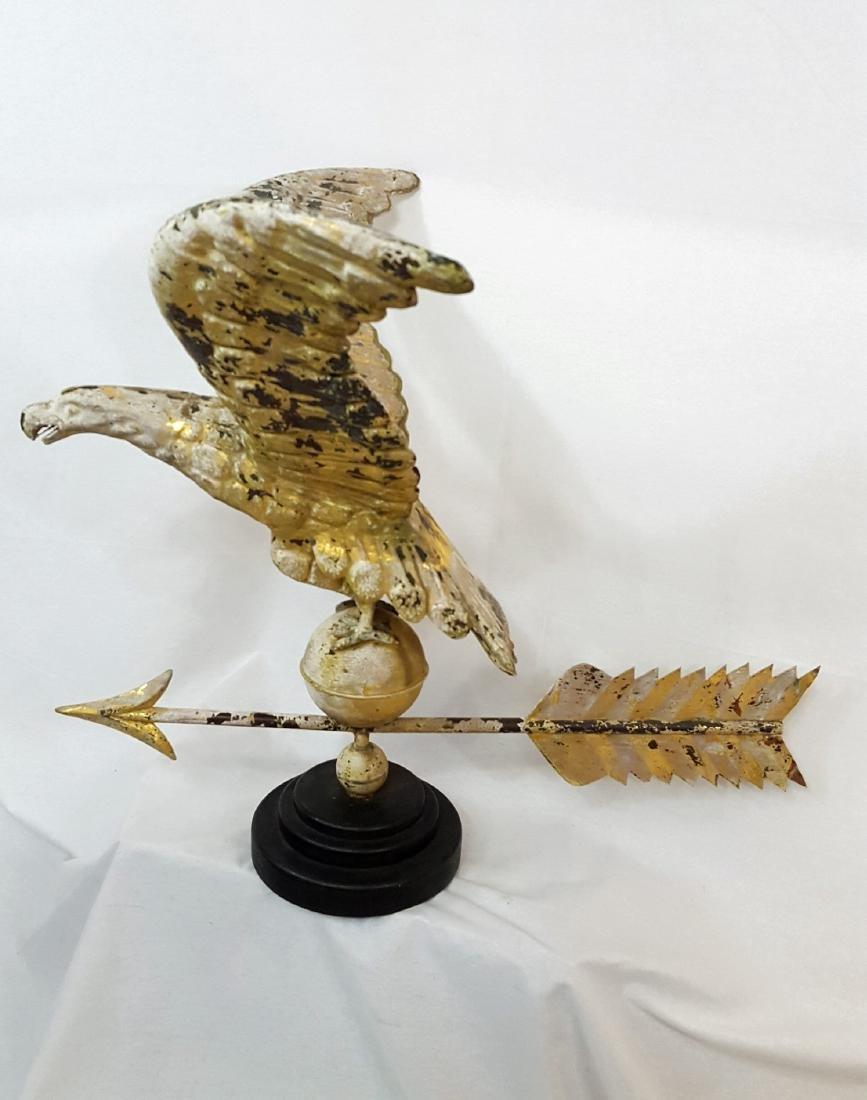 Hollow Body Copper Eagle Weathervane Ca 1880-1900.
