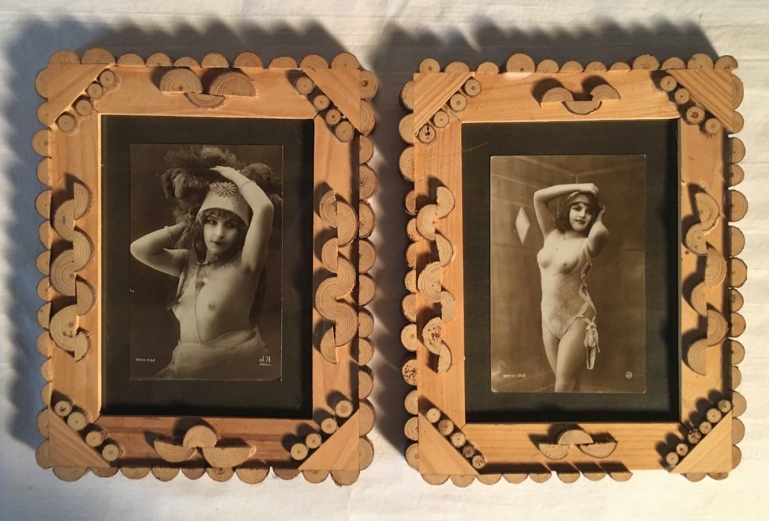 Pair of Studio Session Photos in Vintage Frames