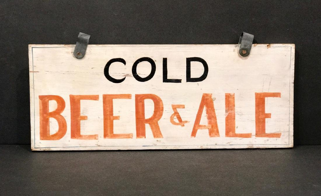 Cold Beer & Ale Sign, C. 1940