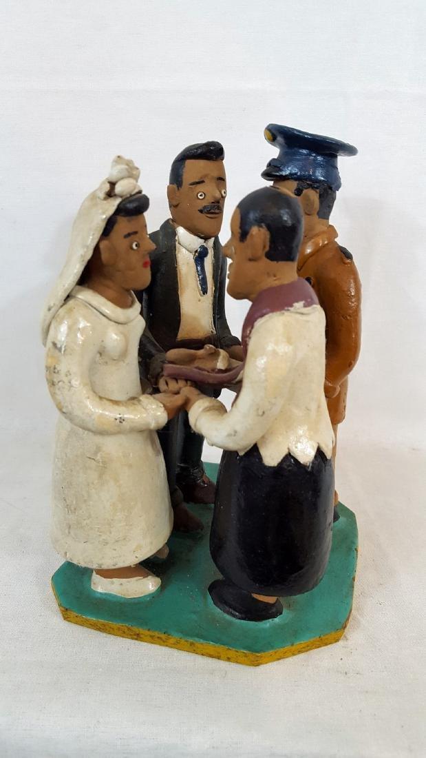Redware Shotgun Wedding Scene Ca 1940's