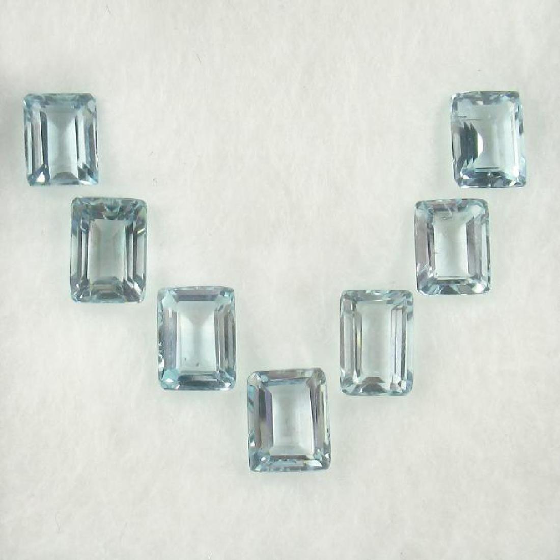 7.46 Carat Loose Aquamarine Necklace Set