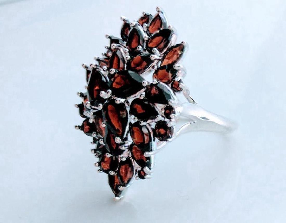 Sterling Silver Garnet Large Ring, 9.975ctw