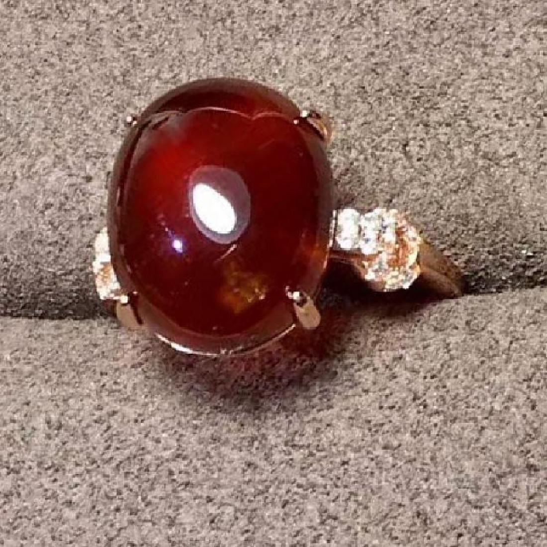 Sterling Silver Garnet Zircon Ring, 7.5ct