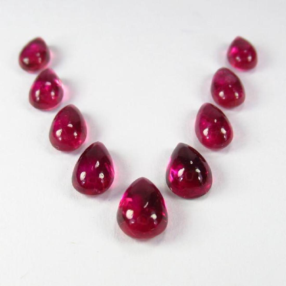 6.29 Carat Loose Pink Tourmaline Necklace Set