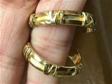 Tiffany & Co 18K Yellow Gold Hoop Earrings