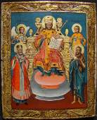 Antique Greek Christ as King of the Kings Icon, 18th C