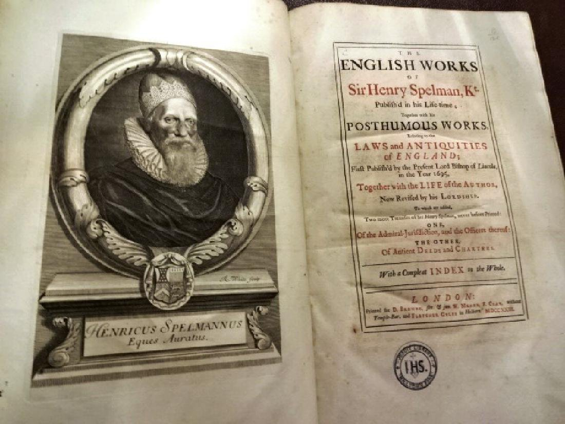 1723 English works of Sir Henry Spelman, Kt.