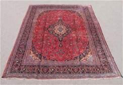 Semi Antique Persian Kashan Rug 9.5x12.11