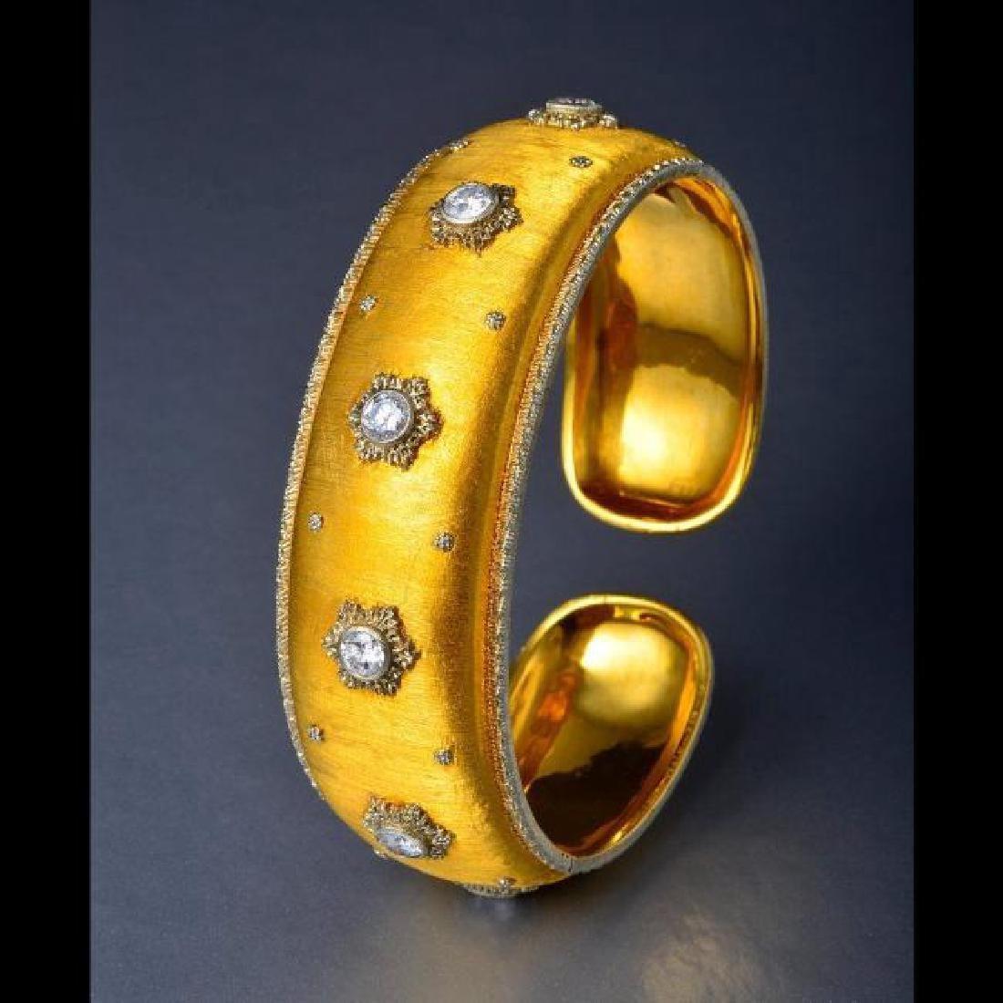 Mario Buccellati 18K Yellow Gold Diamond Bracelet, 2ctw