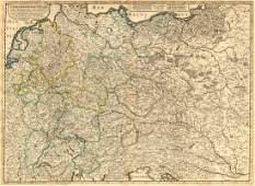 Sanson: Antique Map of Central Europe, 1645