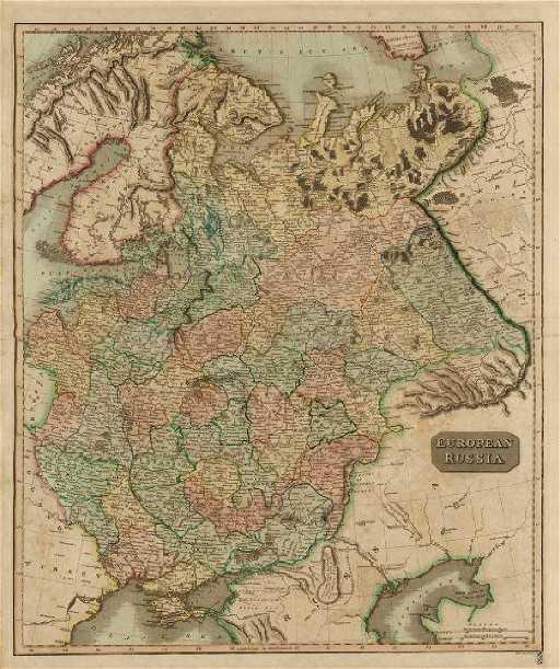 Thomson Antique Map Of European Russia 1817