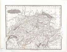 Malte-Brun: Antique Map of Switzerland, 1835