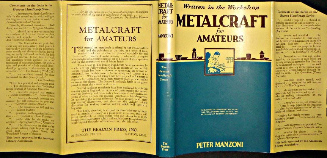 Metalcraft for Amateurs 1948, Charles T. Branford, MA