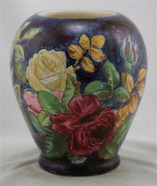 William Lycett China Painted Vase John Bennett Style