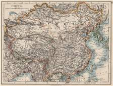 Johnston: Antique Map of the Chinese Empire, 1900