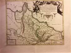 Mortier: Antique Map of Paphlagonia near Black Sea 1705