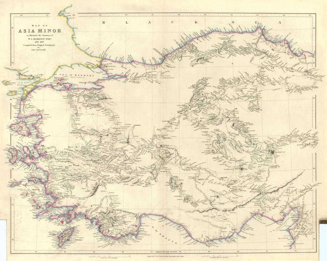 Map Of Asia Minor.Arrowsmith Antique Map Of Asia Minor 1842 On Liveauctioneers