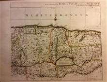 Mortier: Antique Map of Land of Canaan Palestine, 1705