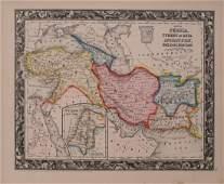 Mitchell: Antique Map of Turkey Persia Afganistan, 1860
