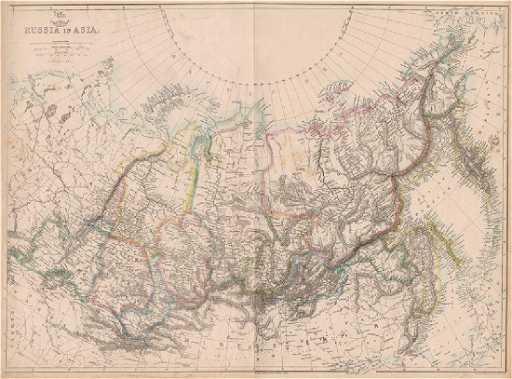 Asia Map Siberia.Lowry Antique Map Of Siberia Russia In Asia 1862