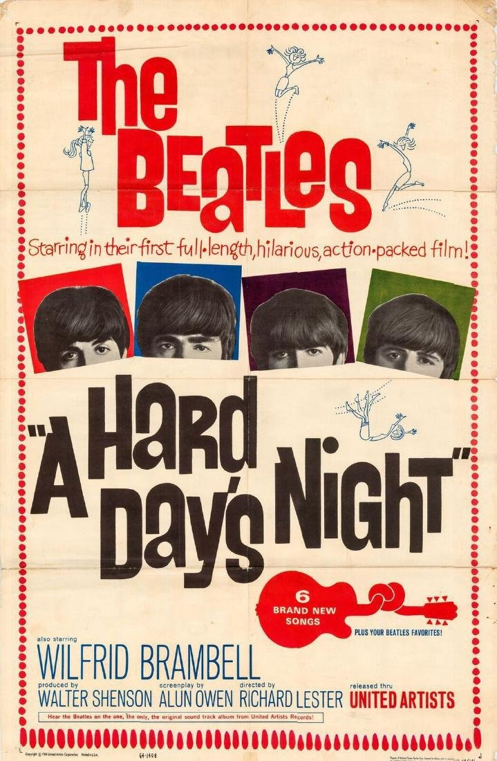 The Beatles Hard Day's Night Poster