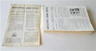 Miniature Book News Complete set to 1973. Julian Edison
