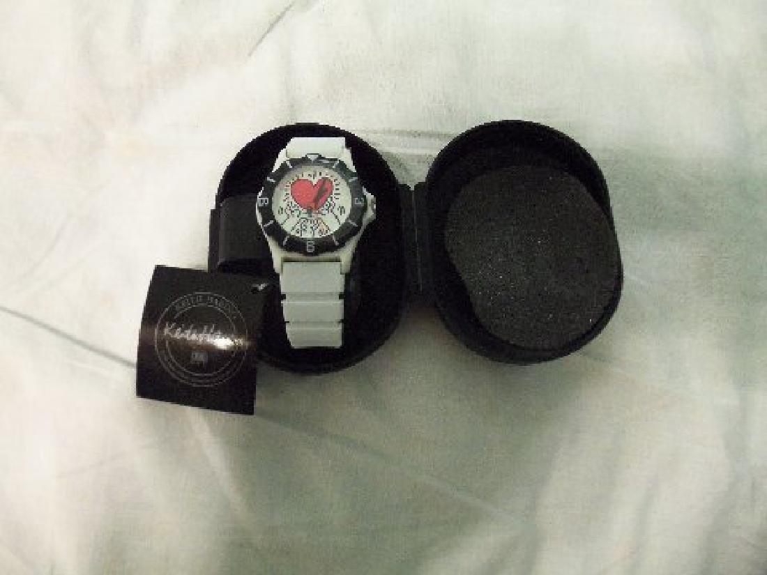 Vintage Keith Haring Pop Shop Watch White - 3