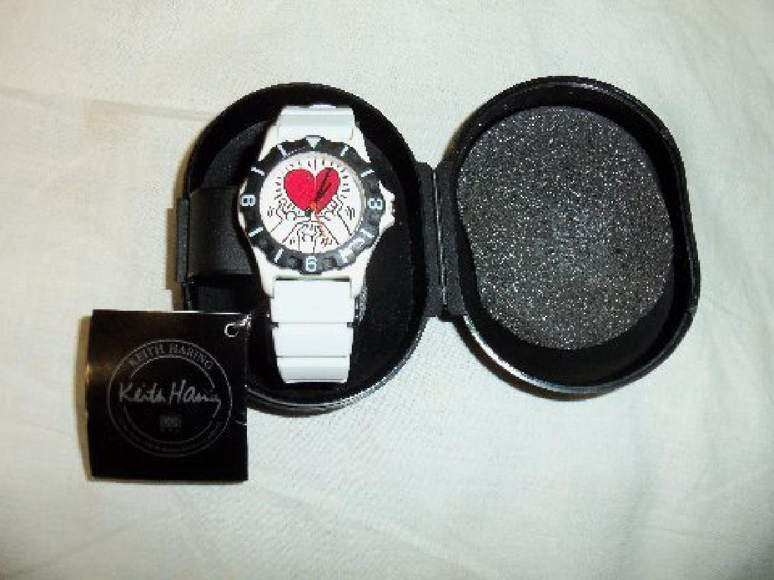 Vintage Keith Haring Pop Shop Watch White - 6