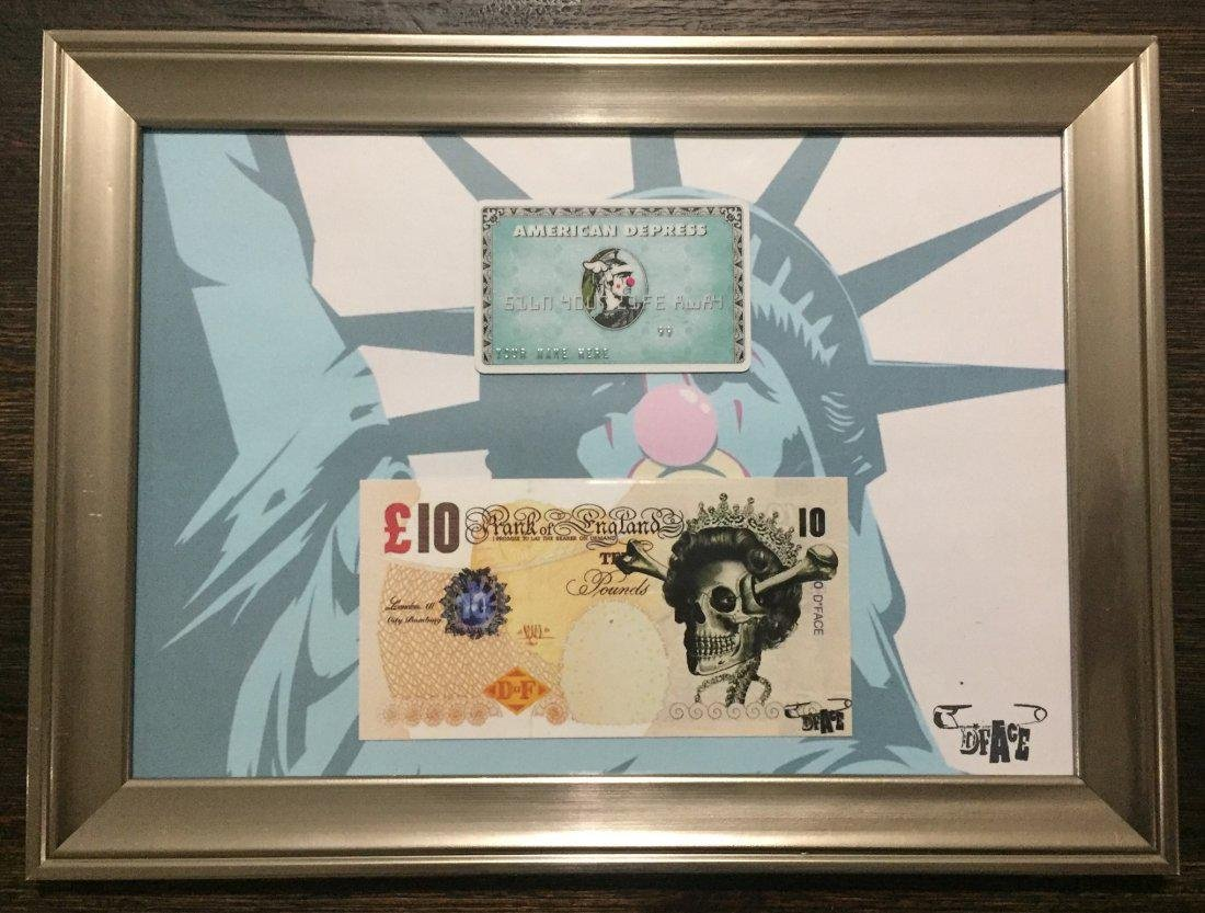 D*face American Depress Card Set Ten Pound Note - 2