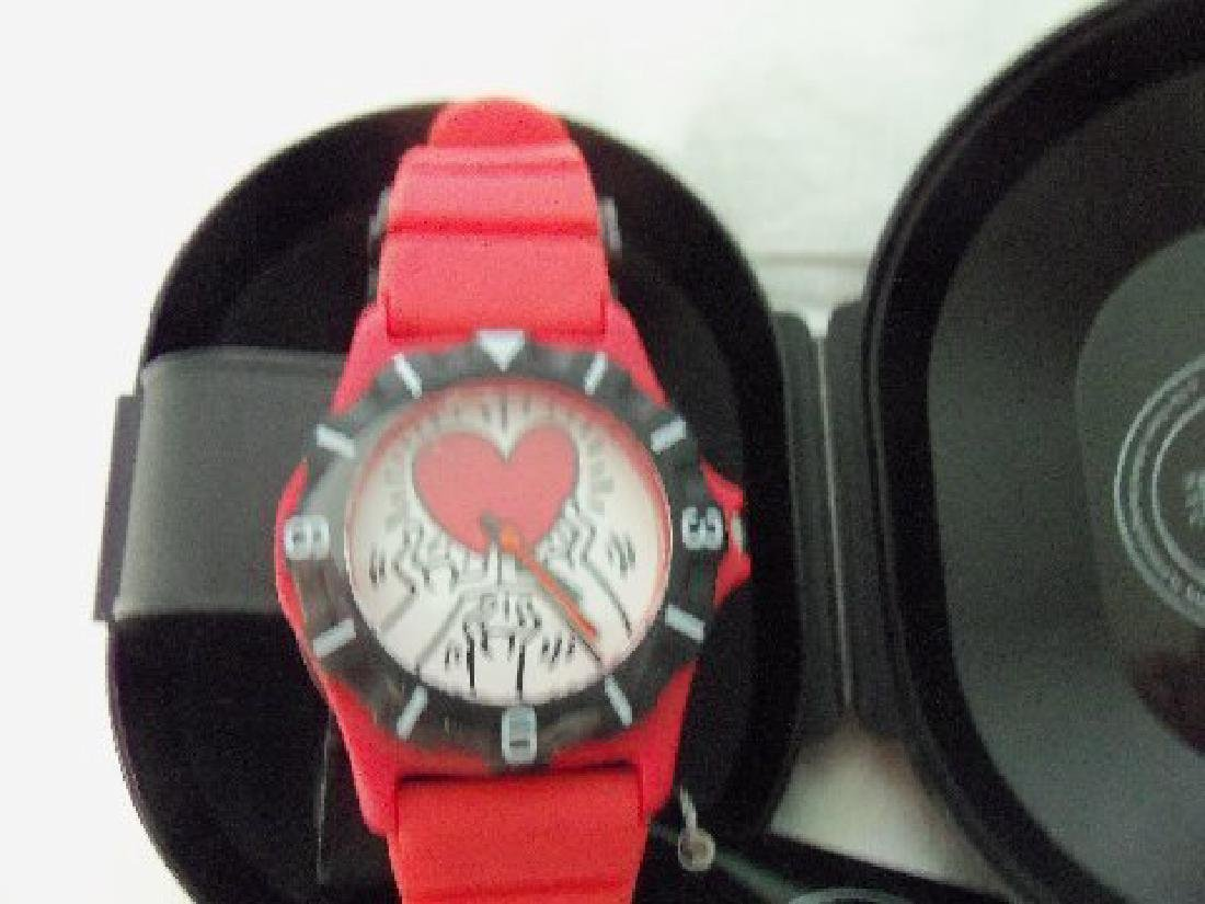 Vintage Keith Haring Pop Shop Watch Red - 5