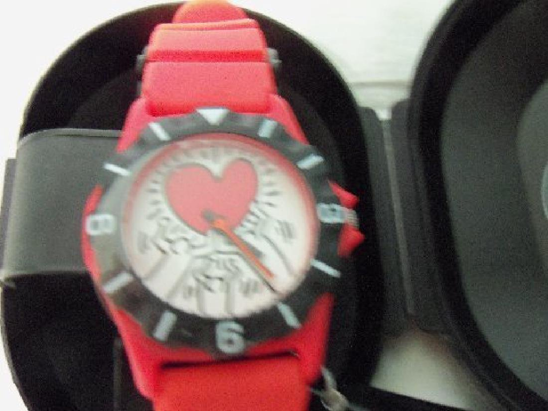 Vintage Keith Haring Pop Shop Watch Red - 6