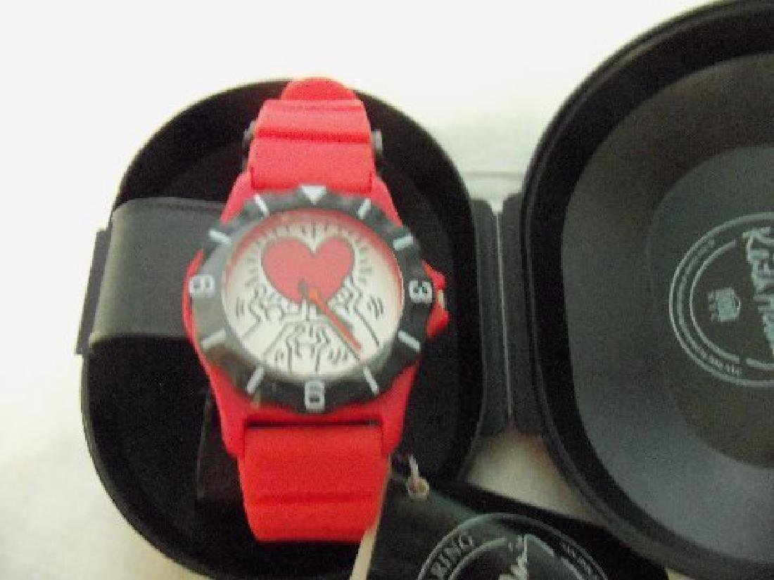 Vintage Keith Haring Pop Shop Watch Red - 7