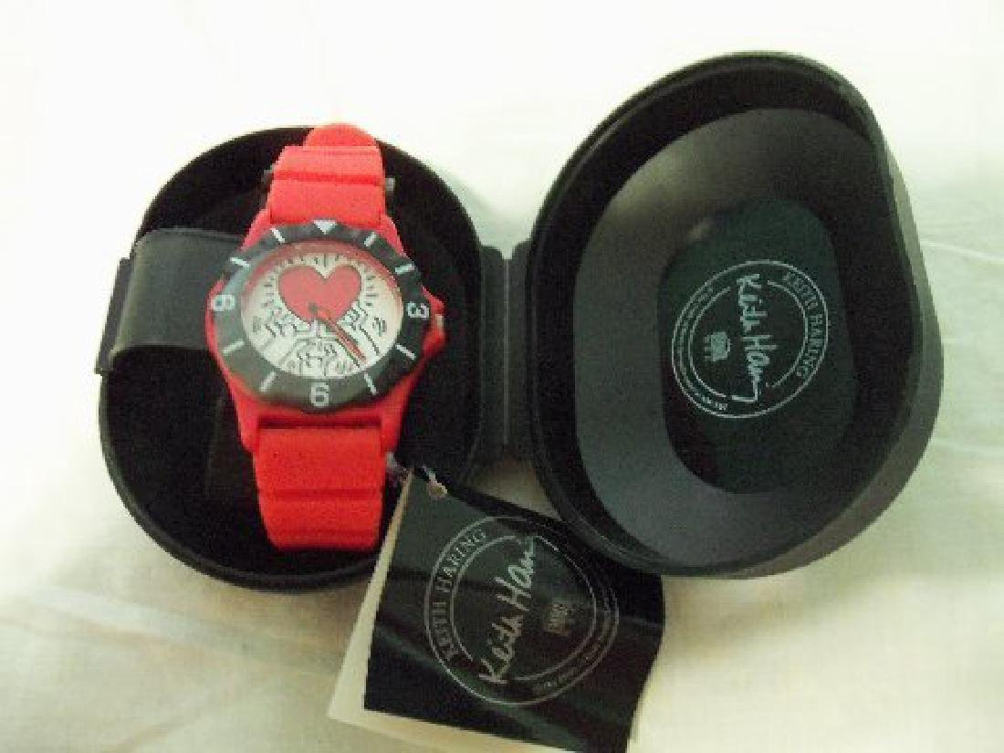 Vintage Keith Haring Pop Shop Watch Red - 9